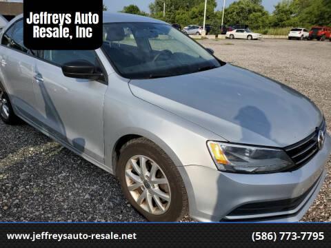 2015 Volkswagen Jetta for sale at Jeffreys Auto Resale, Inc in Clinton Township MI