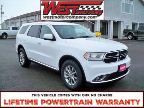 2017 Dodge Durango for sale at West Motor Company in Preston ID