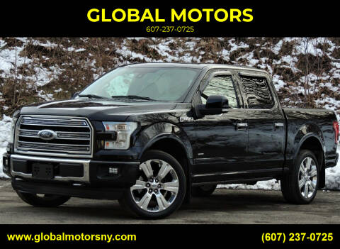 2016 Ford F-150 for sale at GLOBAL MOTORS in Binghamton NY