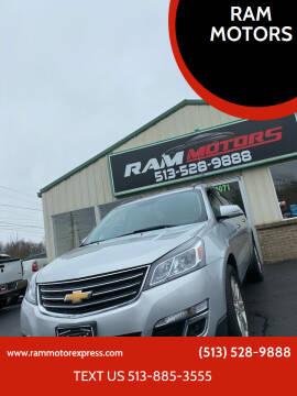2013 Chevrolet Traverse for sale at RAM MOTORS in Cincinnati OH