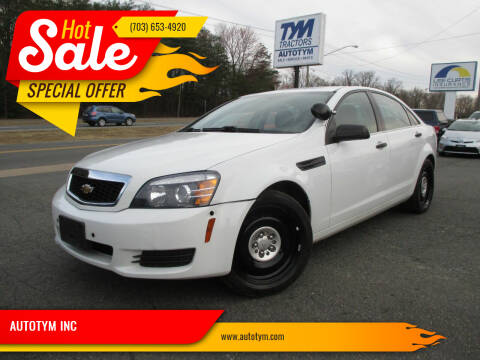 2014 Chevrolet Caprice for sale at AUTOTYM INC in Fredericksburg VA