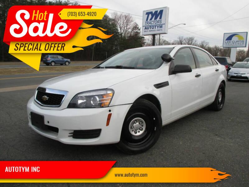 2014 Chevrolet Caprice for sale at AUTOTYM INC in Fredericksburg VA