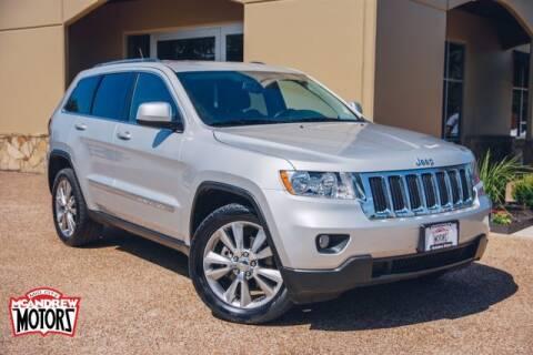 2013 Jeep Grand Cherokee for sale at Mcandrew Motors in Arlington TX