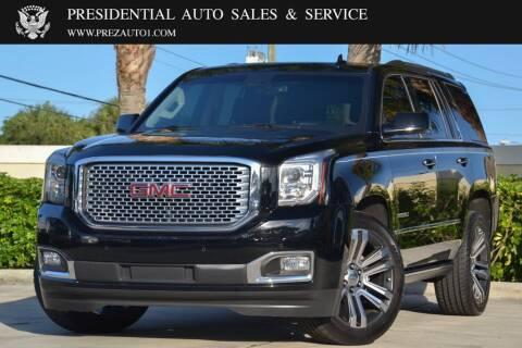 2017 GMC Yukon for sale at Presidential Auto  Sales & Service in Delray Beach FL