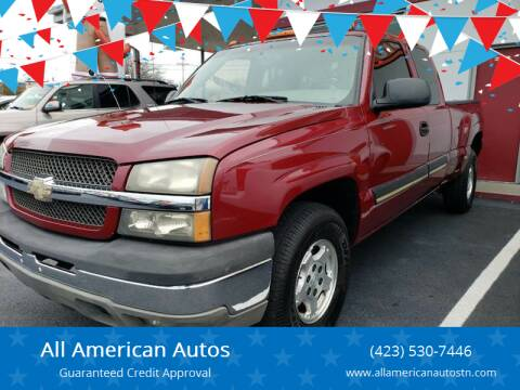 2003 Chevrolet Silverado 1500 for sale at All American Autos in Kingsport TN