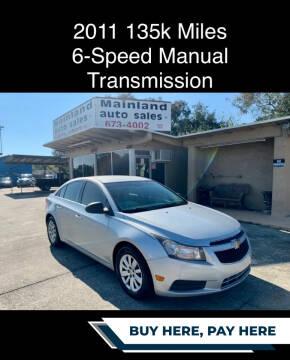 2011 Chevrolet Cruze for sale at Mainland Auto Sales Inc in Daytona Beach FL