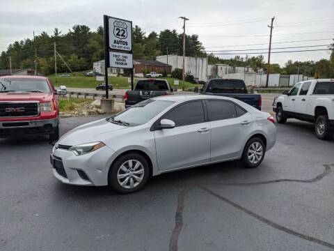 2015 Toyota Corolla for sale at Route 22 Autos in Zanesville OH