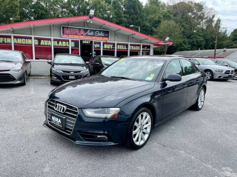 2013 Audi A4 for sale at Mira Auto Sales in Raleigh NC
