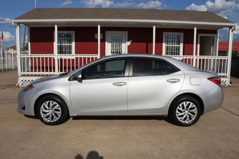2017 Toyota Corolla for sale at AMT AUTO SALES LLC in Houston TX