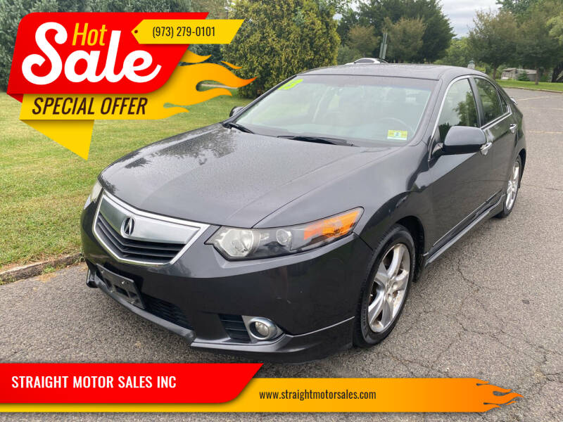 2013 Acura TSX for sale at STRAIGHT MOTOR SALES INC in Paterson NJ