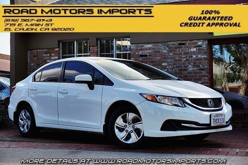 2015 Honda Civic for sale at Road Motors Imports in El Cajon CA