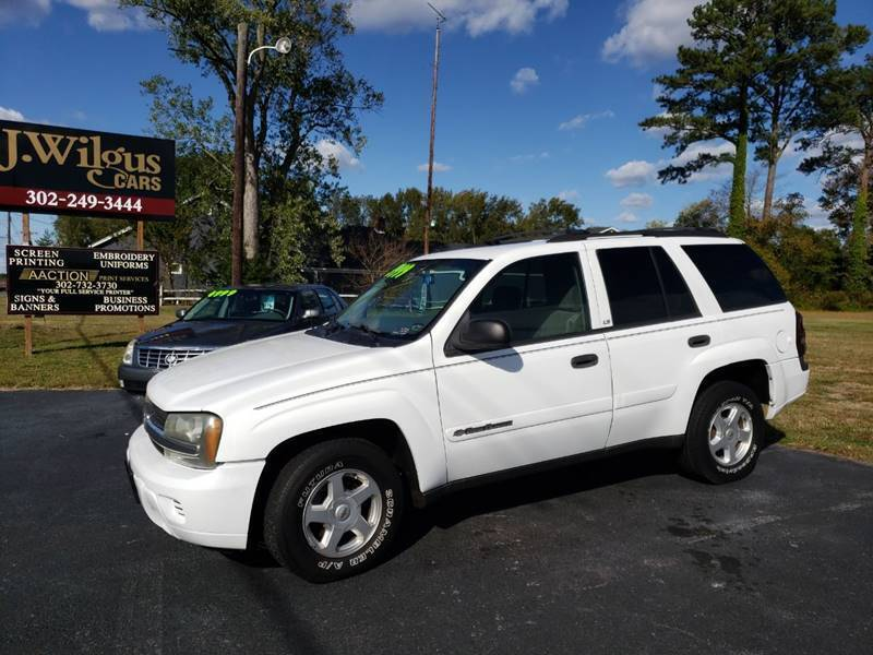 2002 Chevrolet TrailBlazer for sale at J Wilgus Cars in Selbyville DE