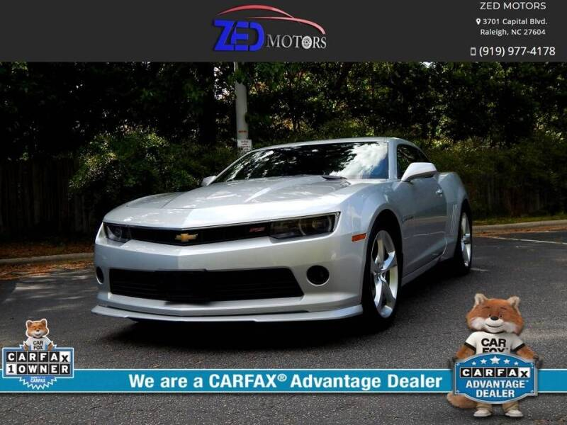 2015 Chevrolet Camaro for sale at Zed Motors in Raleigh NC