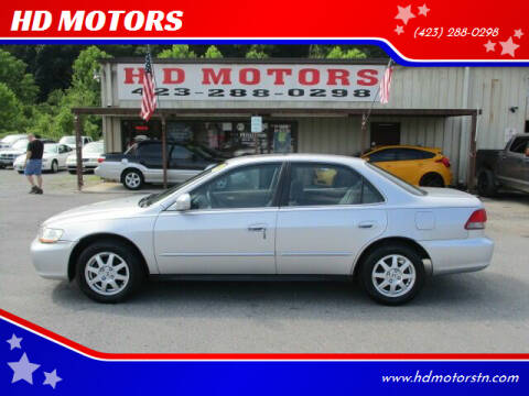 2002 Honda Accord for sale at HD MOTORS in Kingsport TN