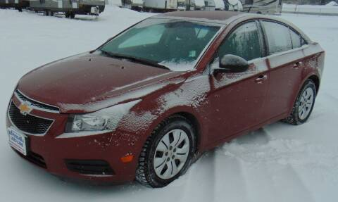 2012 Chevrolet Cruze for sale at Dependable Used Cars in Anchorage AK