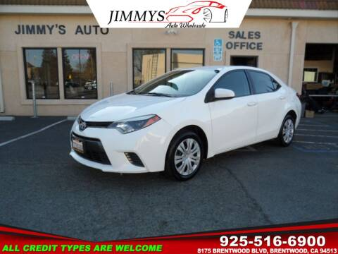 2016 Toyota Corolla for sale at JIMMY'S AUTO WHOLESALE in Brentwood CA