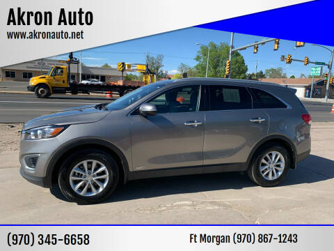 2017 Kia Sorento for sale at Akron Auto - Fort Morgan in Fort Morgan CO