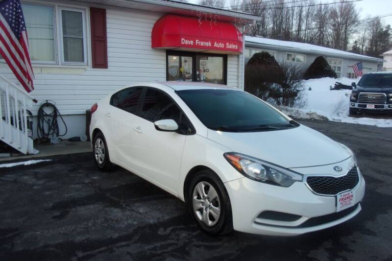 2016 Kia Forte for sale at Dave Franek Automotive in Wantage NJ