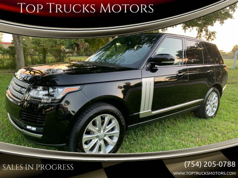 2015 Land Rover Range Rover for sale at Top Trucks Motors in Pompano Beach FL
