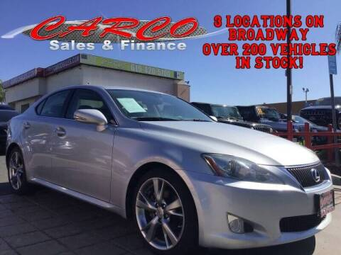2010 Lexus IS 250 for sale at CARCO SALES & FINANCE in Chula Vista CA