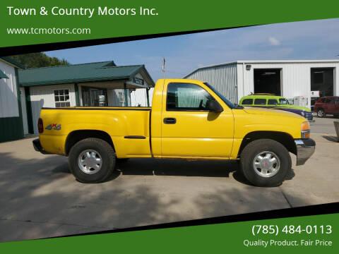 2002 GMC Sierra 1500 for sale at Town & Country Motors Inc. in Meriden KS