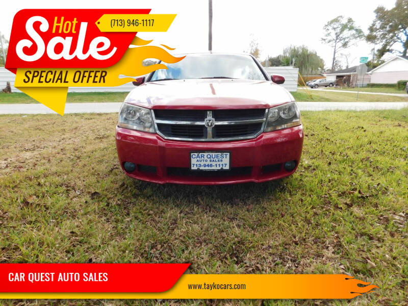 2008 Dodge Avenger for sale at CAR QUEST AUTO SALES in Houston TX