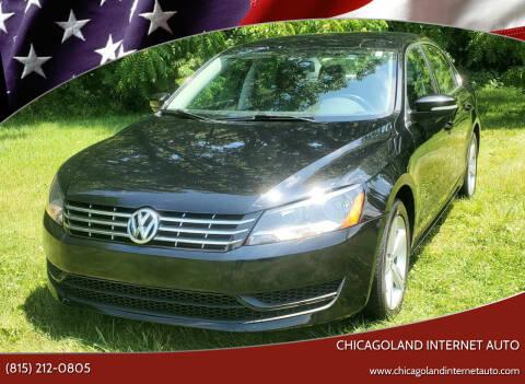 2013 Volkswagen Passat for sale at Chicagoland Internet Auto - 410 N Vine St New Lenox IL, 60451 in New Lenox IL
