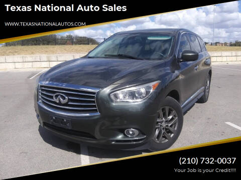 2014 Infiniti QX60 for sale at Texas National Auto Sales in San Antonio TX