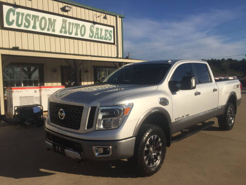 2018 Nissan Titan XD for sale at Custom Auto Sales - AUTOS in Longview TX