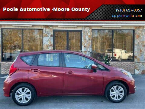 2019 Nissan Versa Note for sale at Poole Automotive in Laurinburg NC