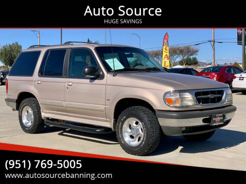 1998 Ford Explorer for sale at Auto Source II in Banning CA