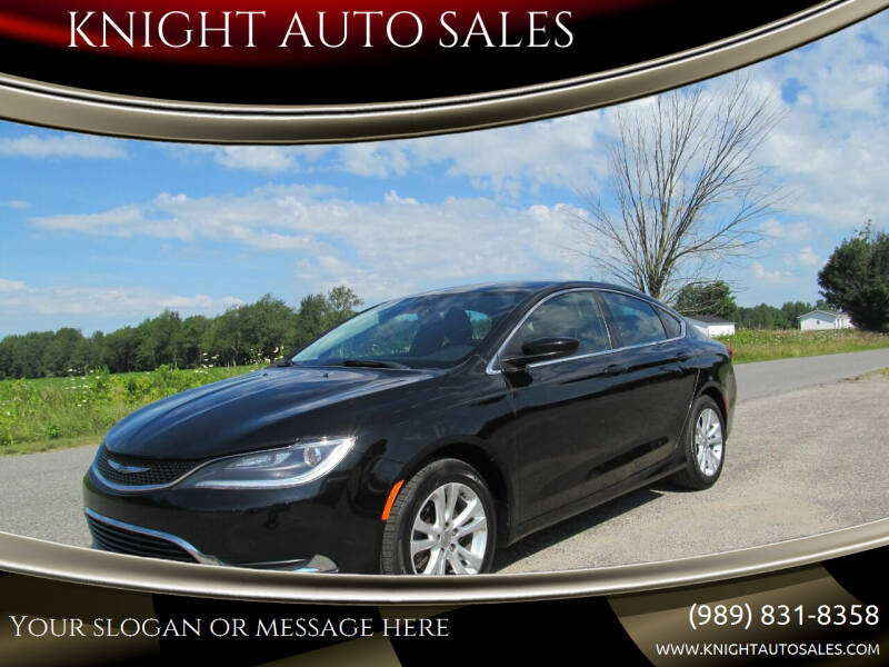 2015 Chrysler 200 for sale at KNIGHT AUTO SALES in Stanton MI