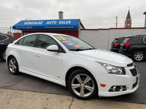 2013 Chevrolet Cruze for sale at Gonzalez Auto Sales in Joliet IL