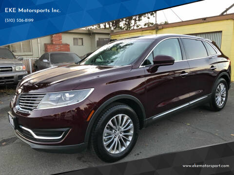 2018 Lincoln MKX for sale at EKE Motorsports Inc. in El Cerrito CA