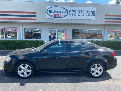 2013 Dodge Avenger for sale at Traditional Autos in Dallas TX