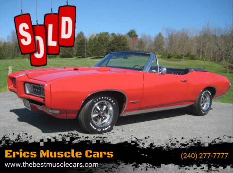 1968 Pontiac GTO for sale at Erics Muscle Cars in Clarksburg MD