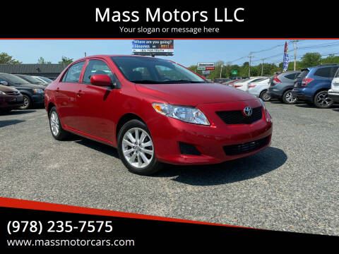 2009 Toyota Corolla for sale at Mass Motors LLC in Worcester MA