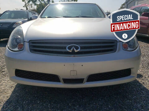 2006 Infiniti G35 for sale at RMB Auto Sales Corp in Copiague NY