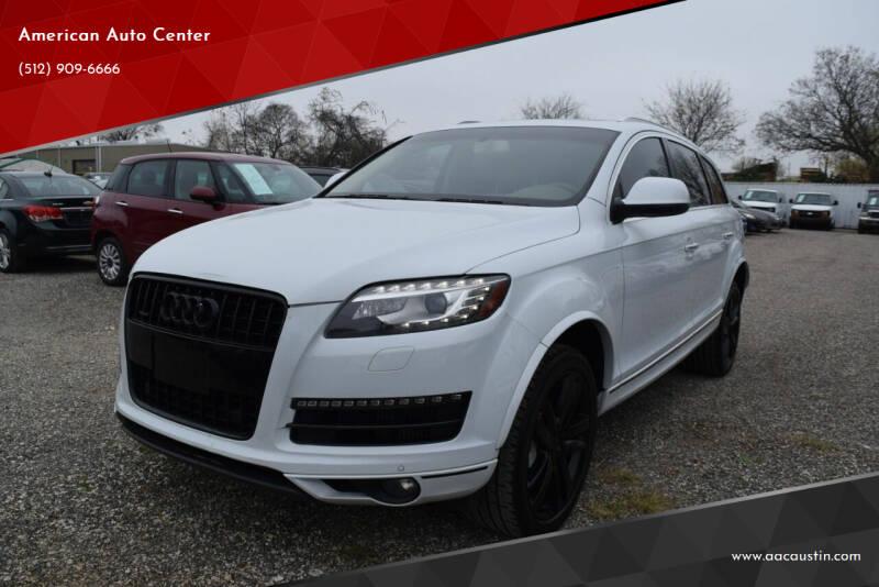 2013 Audi Q7 for sale at American Auto Center in Austin TX