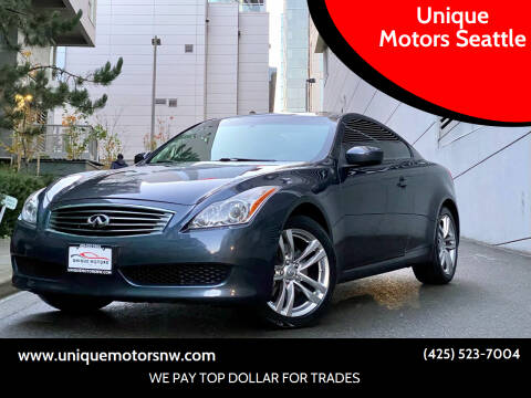 2009 Infiniti G37 Coupe for sale at Unique Motors Seattle in Bellevue WA