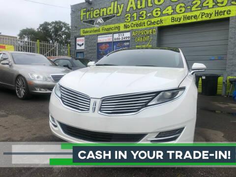 2016 Lincoln MKZ for sale at Friendly Auto Sales in Detroit MI
