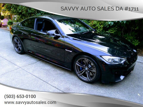 2015 BMW M4 for sale at SAVVY AUTO SALES DA #1711 in Portland OR