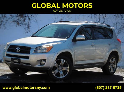 2010 Toyota RAV4 for sale at GLOBAL MOTORS in Binghamton NY