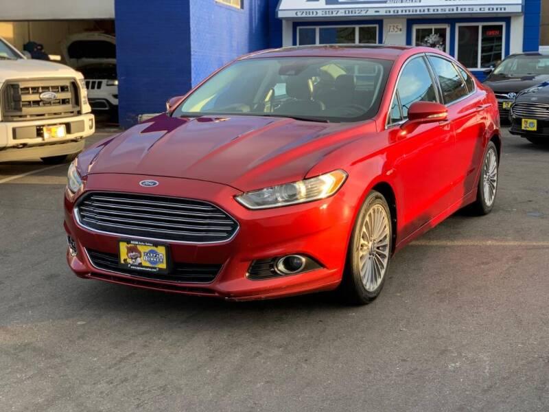 2013 Ford Fusion for sale at AGM AUTO SALES in Malden MA