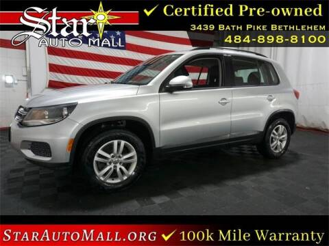 2016 Volkswagen Tiguan for sale at STAR AUTO MALL 512 in Bethlehem PA