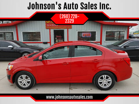 2013 Chevrolet Sonic for sale at Johnson's Auto Sales Inc. in Decatur IN