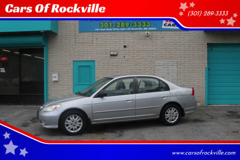 2005 Honda Civic for sale at Cars Of Rockville in Rockville MD