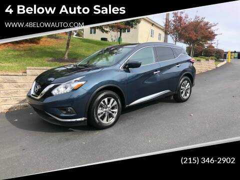 2018 Nissan Murano for sale at 4 Below Auto Sales in Willow Grove PA