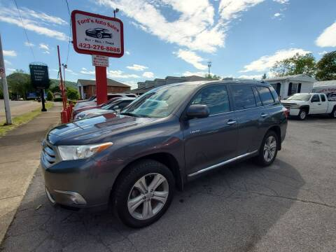 2013 Toyota Highlander for sale at Ford's Auto Sales in Kingsport TN