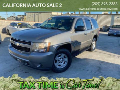 2008 Chevrolet Tahoe for sale at CALIFORNIA AUTO SALE 2 in Livingston CA
